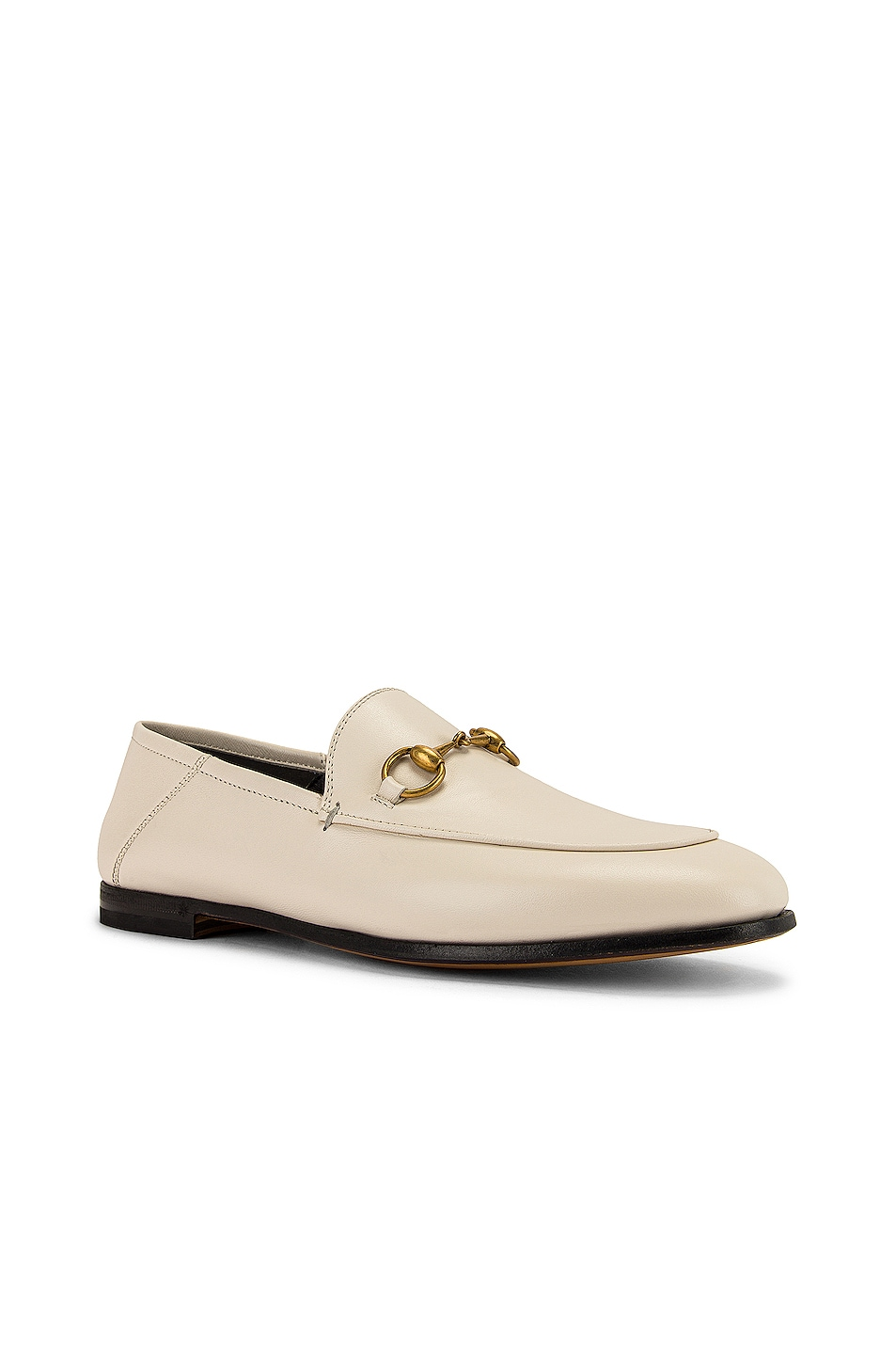 Image 3 of Gucci Leather Horsebit Loafers in Mystic White