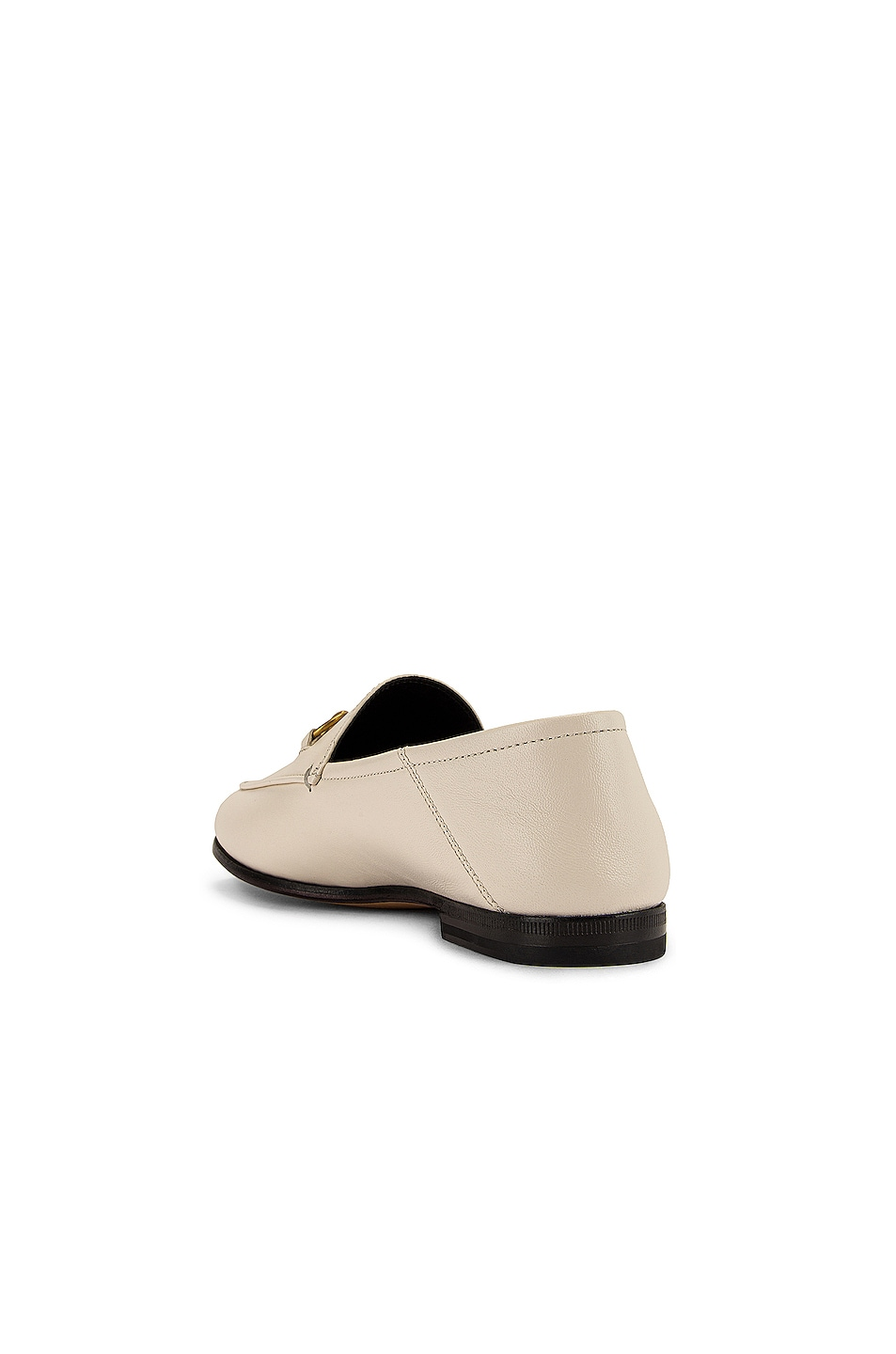 Image 4 of Gucci Leather Horsebit Loafers in Mystic White