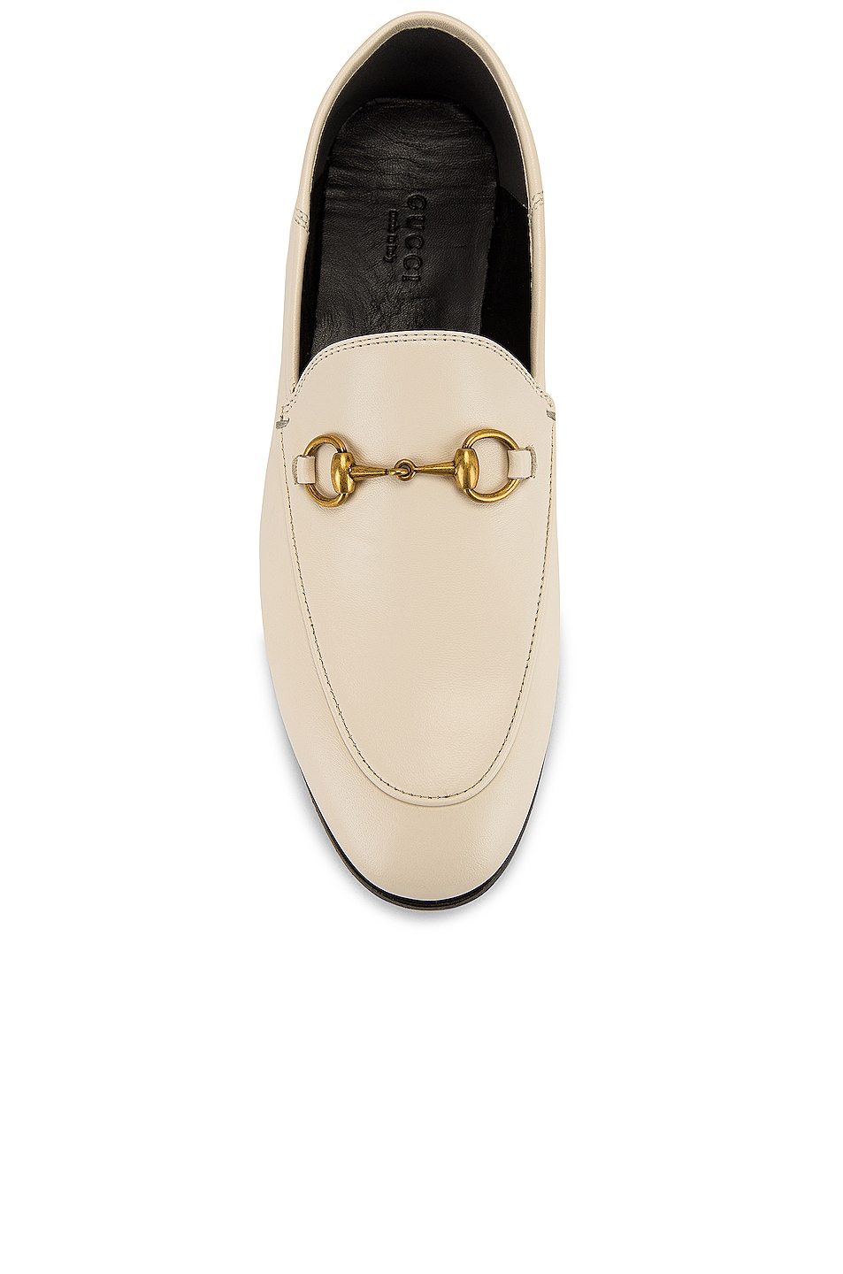 Image 5 of Gucci Leather Horsebit Loafers in Mystic White