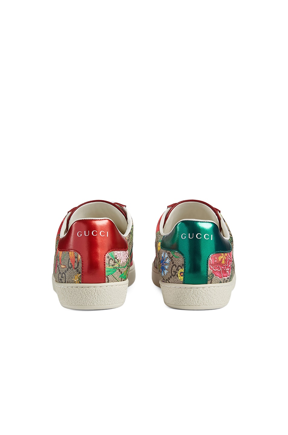 Image 3 of Gucci New Ace GG Floral Sneakers in Beige Ebony