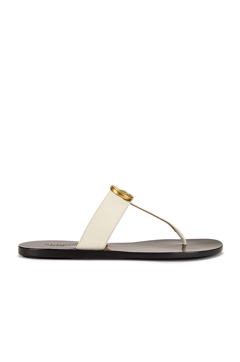 Image 2 of Gucci Marmont Thong Sandals in Mystic White