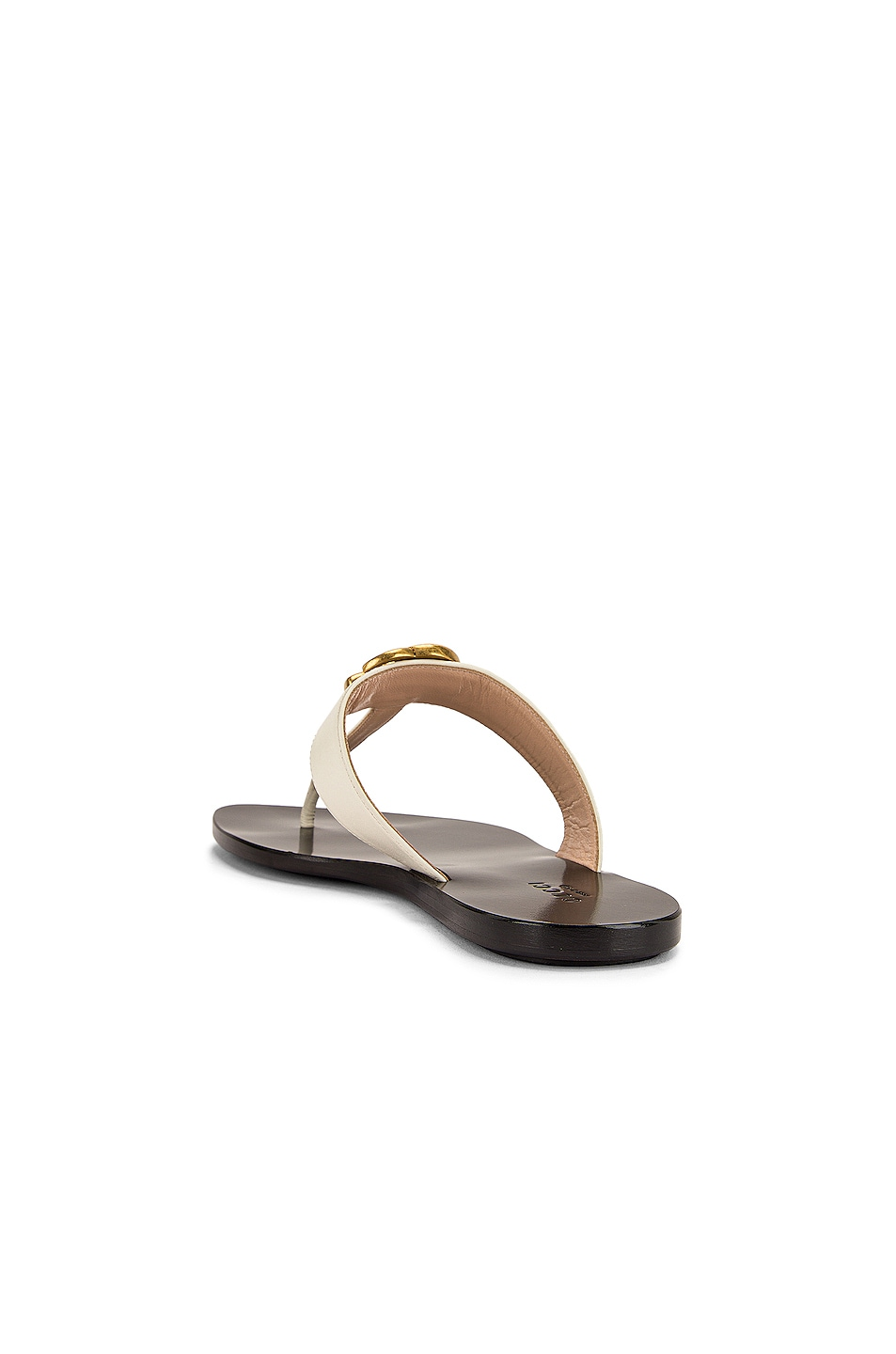 Image 4 of Gucci Marmont Thong Sandals in Mystic White