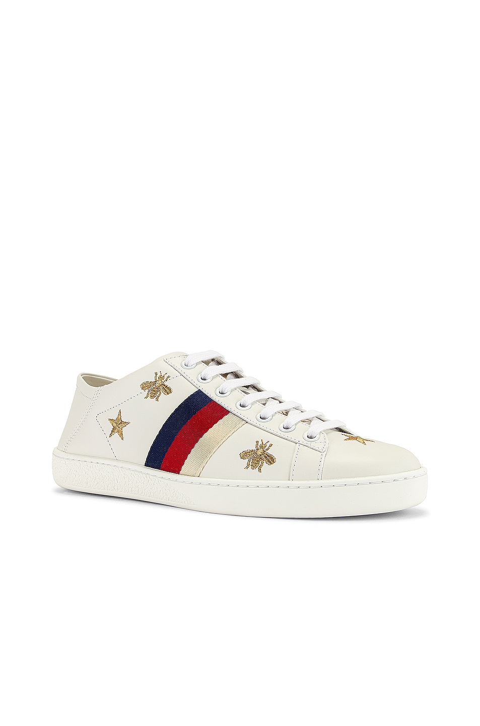 Image 2 of Gucci New Ace Sneakers in White