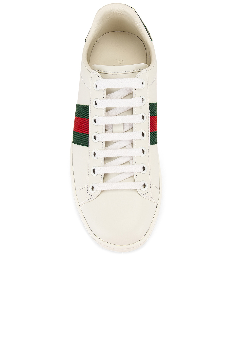Image 4 of Gucci New Ace Basic Sneakers in White & Green