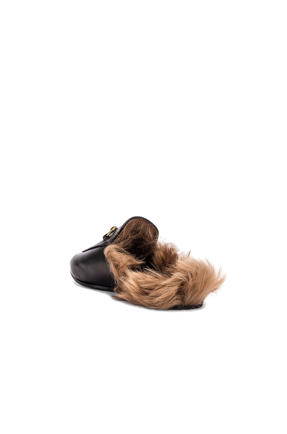 Image 3 of Gucci Princetown Slides in Black & Natural