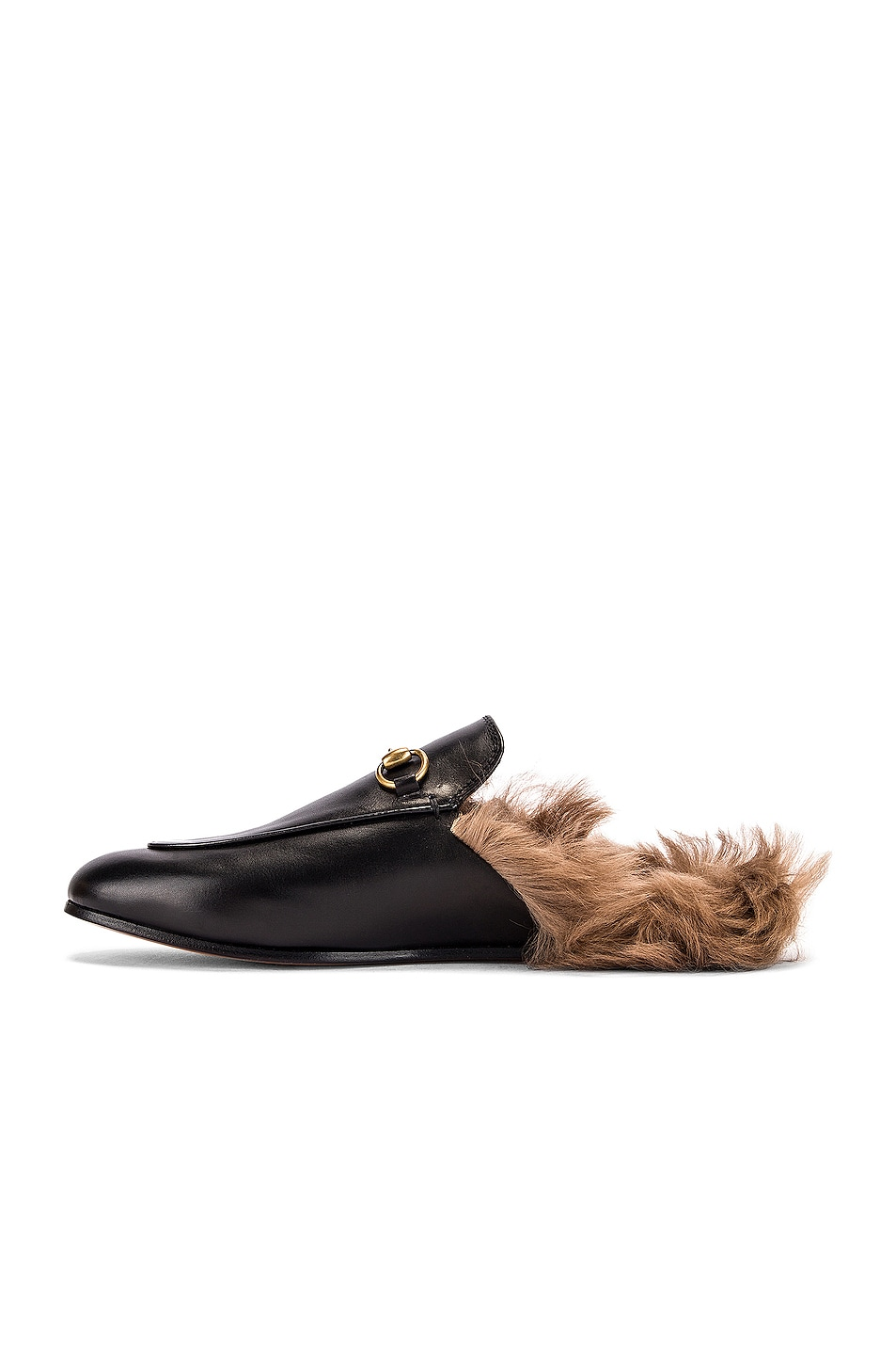 Image 5 of Gucci Princetown Slides in Black & Natural