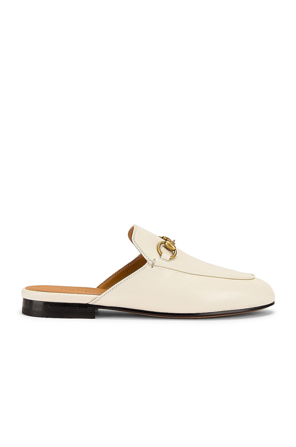 Image 1 of Gucci Princetown Slides in Mystic White
