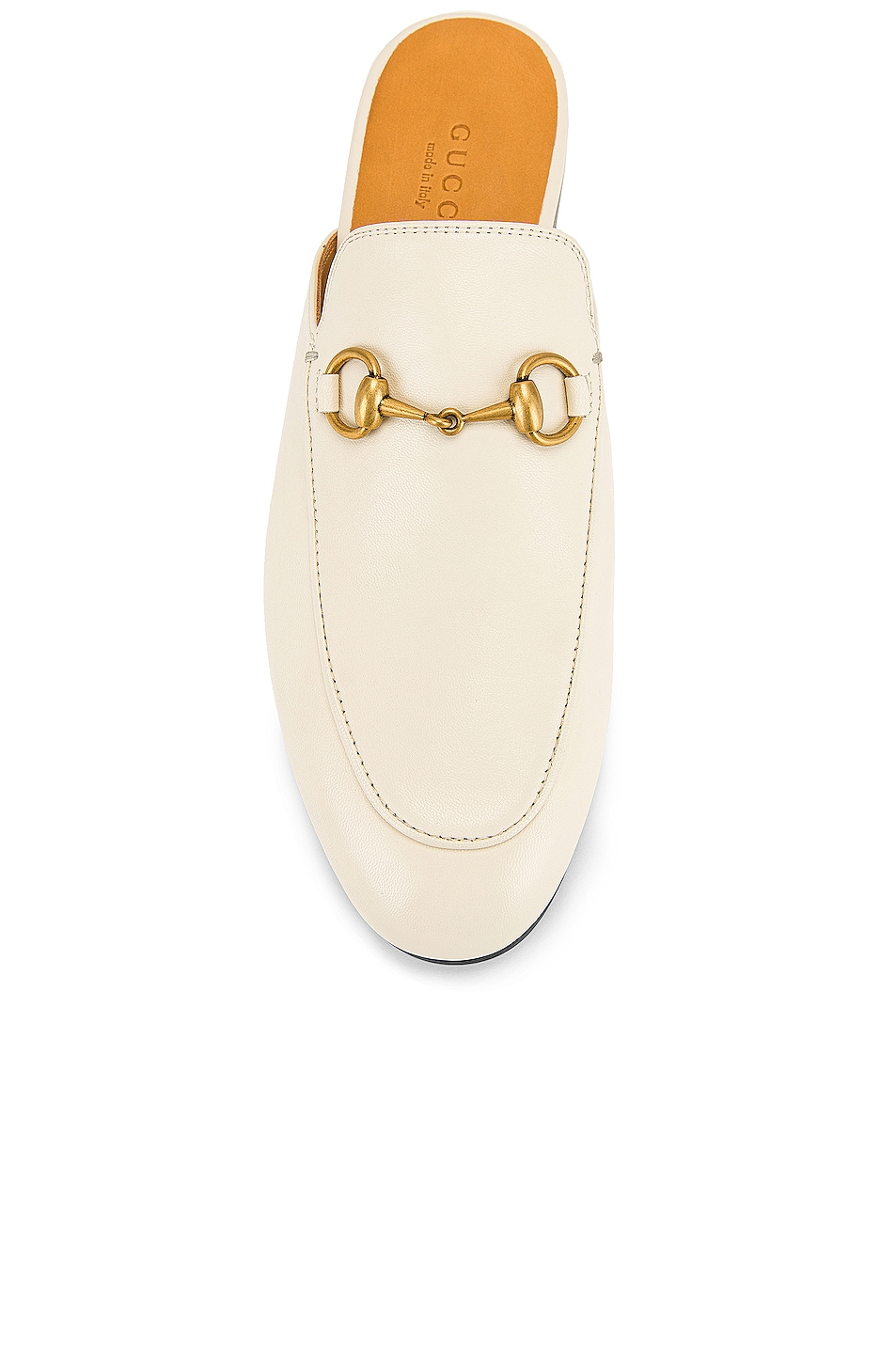Image 4 of Gucci Princetown Slides in Mystic White