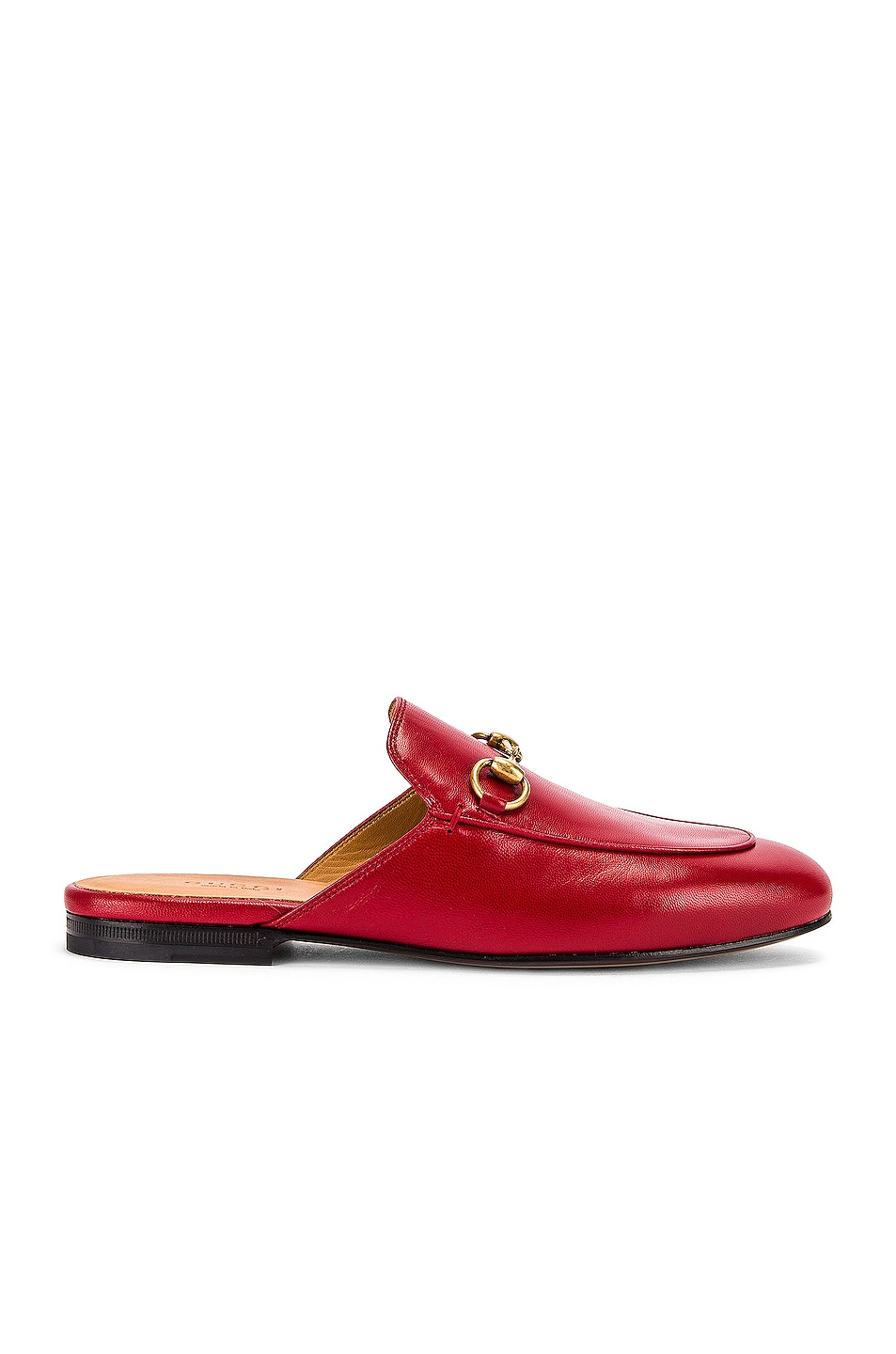 Image 1 of Gucci Princetown Slides in Hibiscus Red