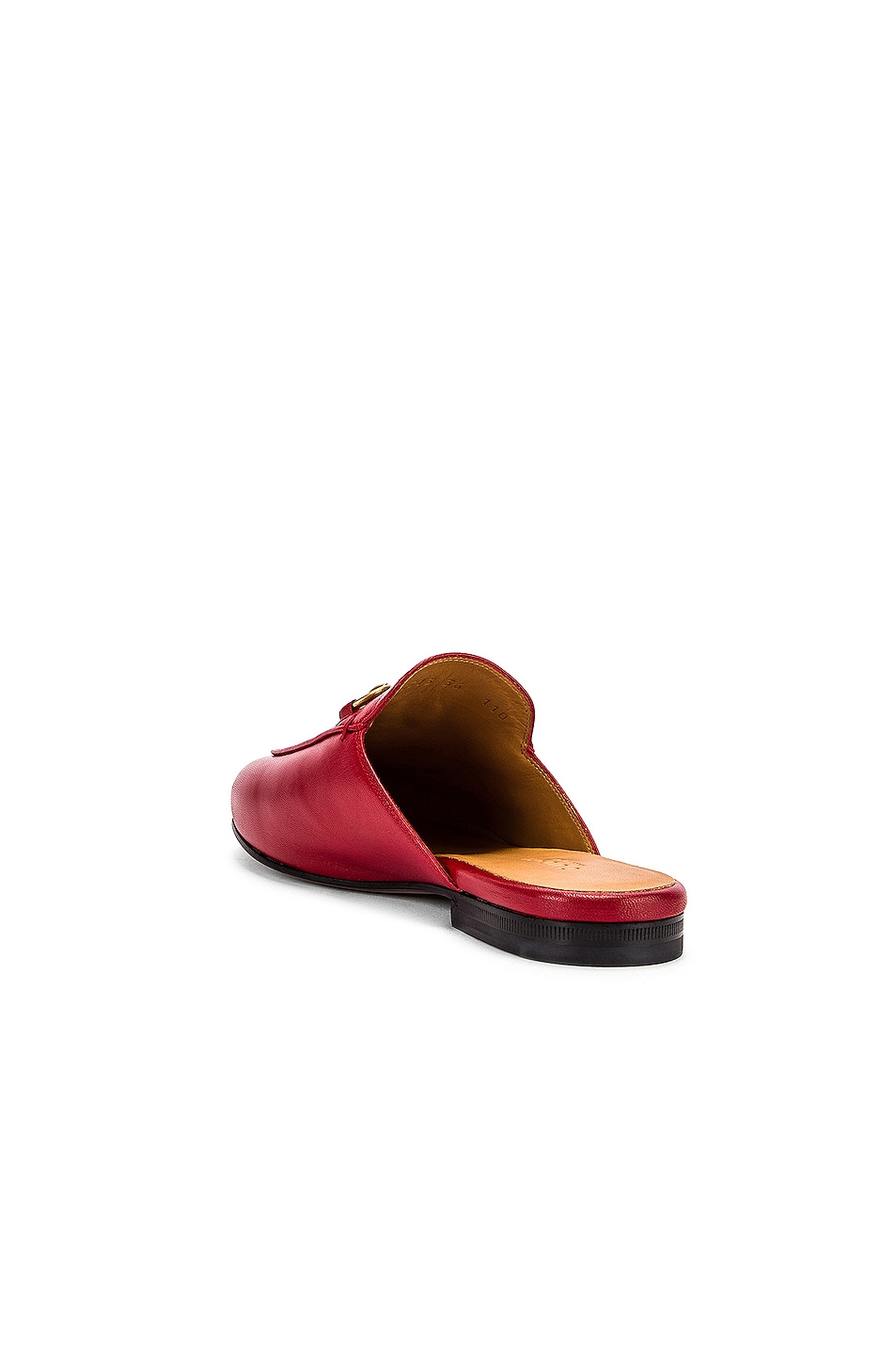 Image 3 of Gucci Princetown Slides in Hibiscus Red