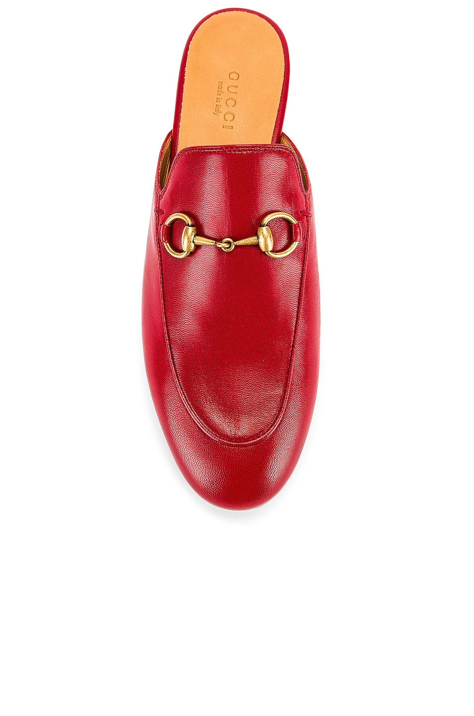 Image 4 of Gucci Princetown Slides in Hibiscus Red