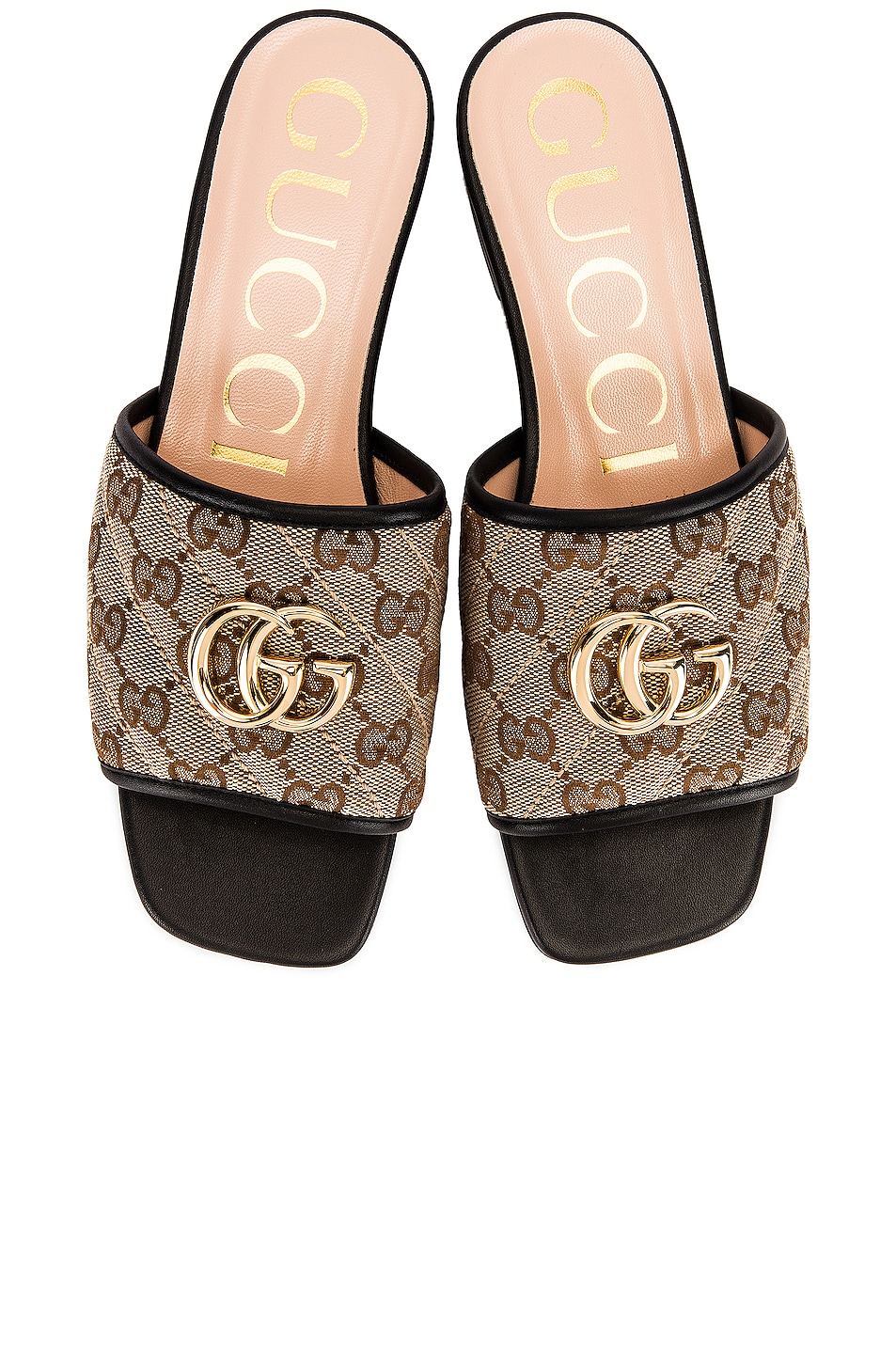 Image 1 of Gucci Jolie Slides in Beige Ebony & Nero