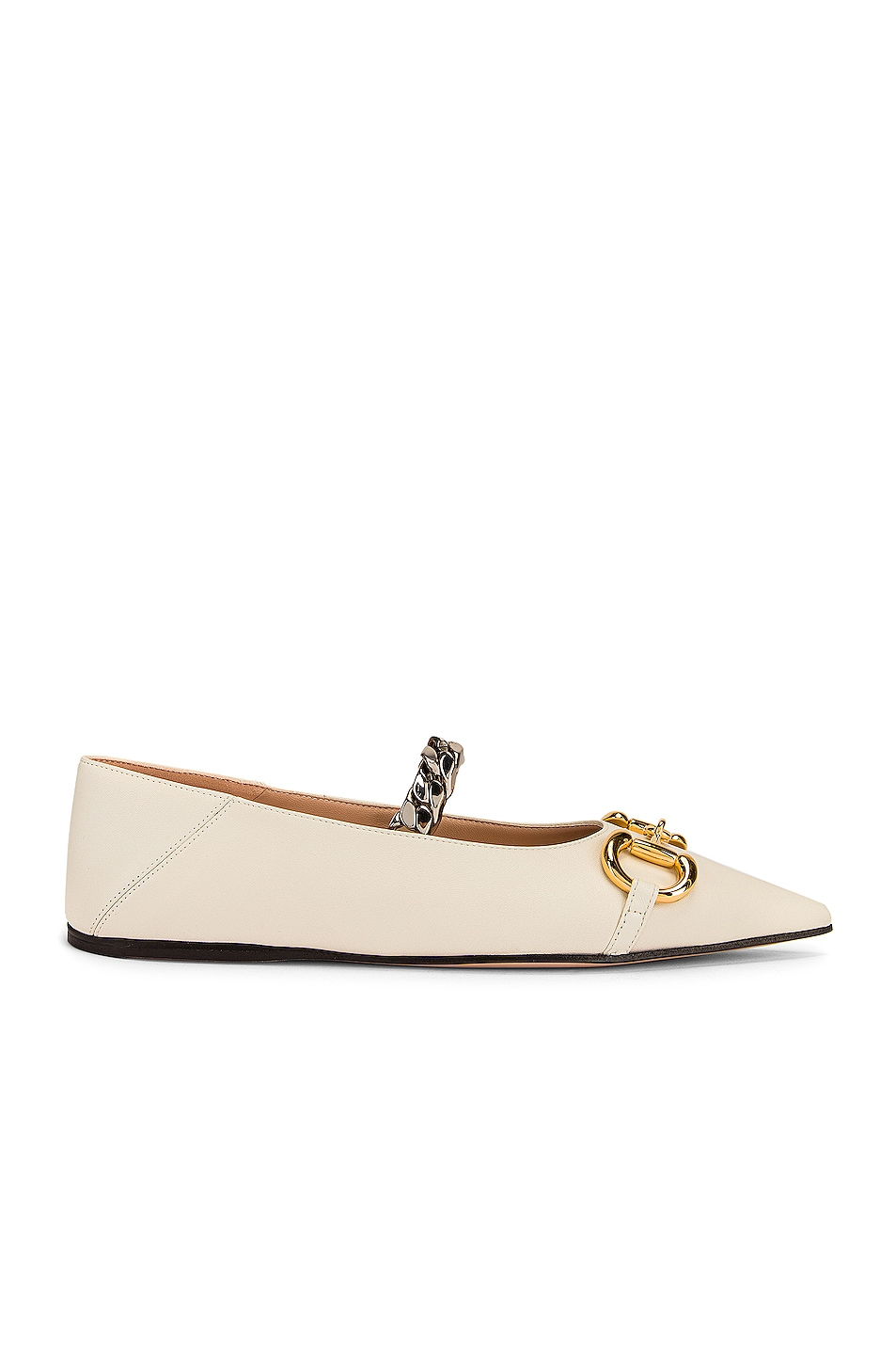 Image 1 of Gucci Deva Ballet Flats in Dusty White