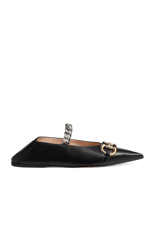Image 1 of Gucci Deva Ballerina Flats in Black