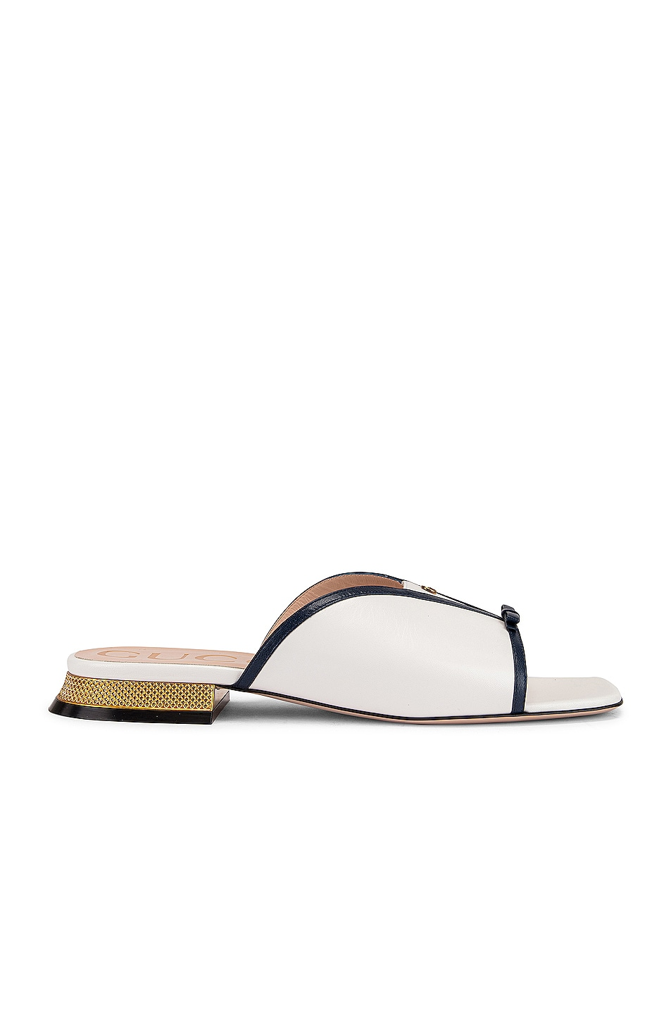 Image 2 of Gucci Alison Sandals in Blue & Great White