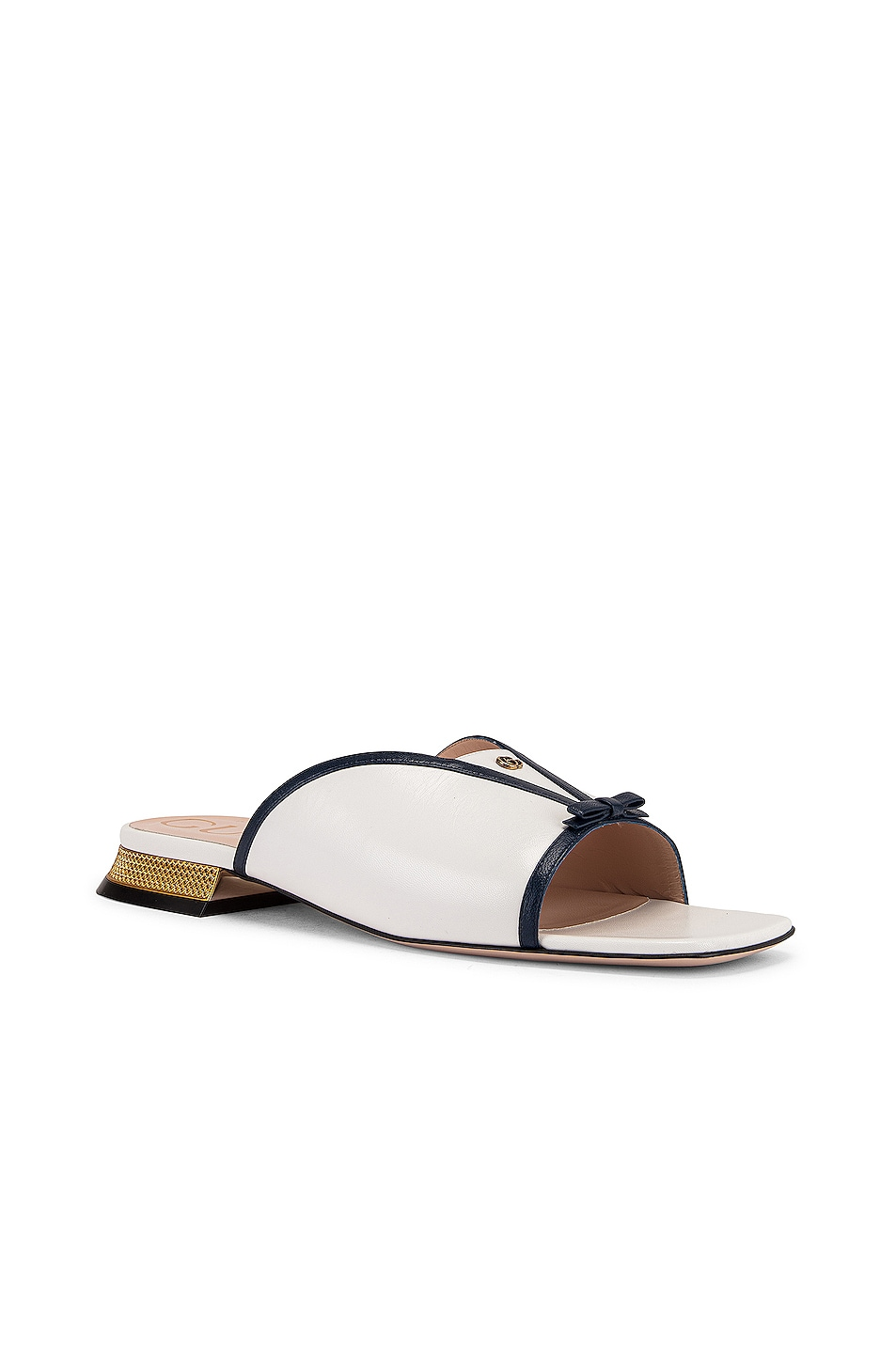 Image 3 of Gucci Alison Sandals in Blue & Great White
