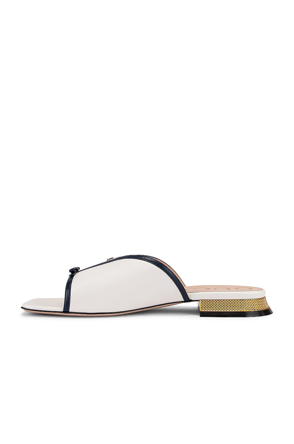 Image 5 of Gucci Alison Sandals in Blue & Great White