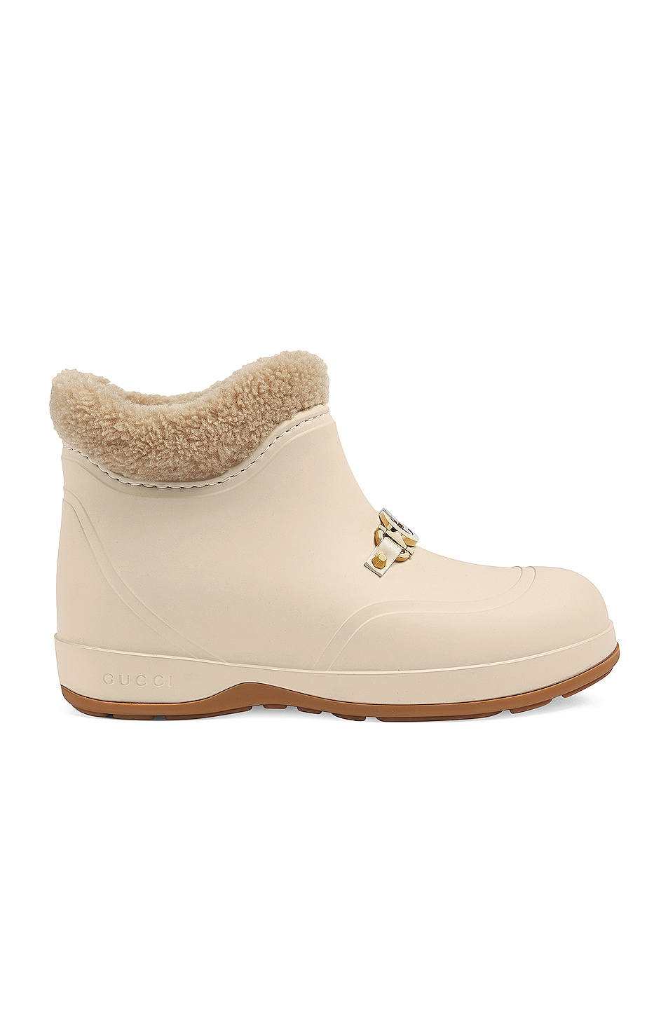 Image 1 of Gucci Crossy Rubber Booties in Mystic White