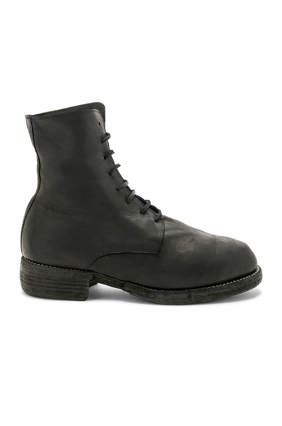 Image 1 of Guidi Leather Lace Up Boots in Black