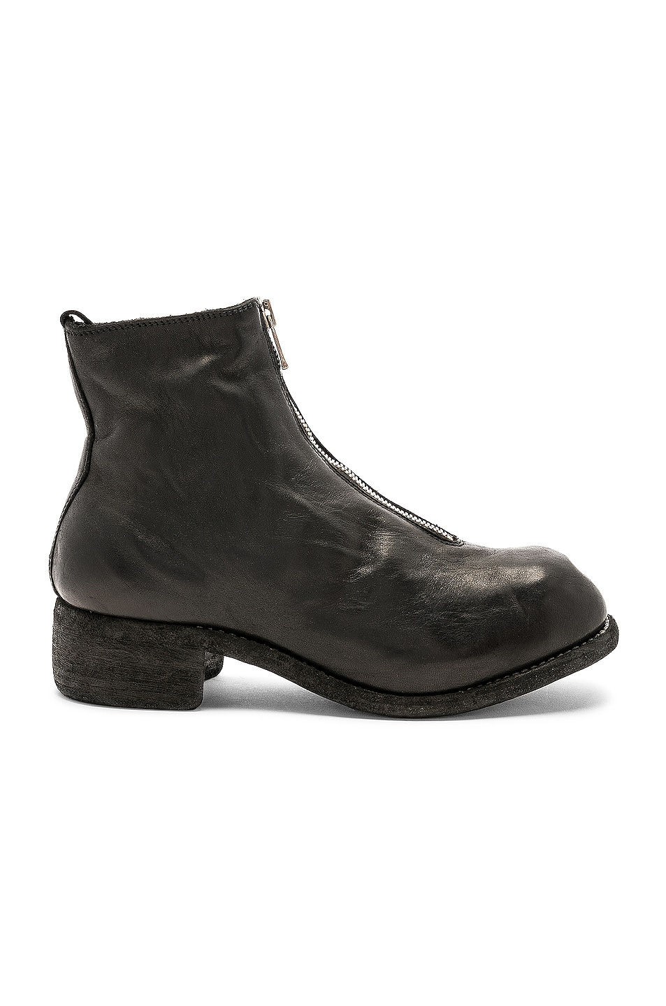 Image 1 of Guidi Soft Horse Full Grain Front Zip Boots in Black