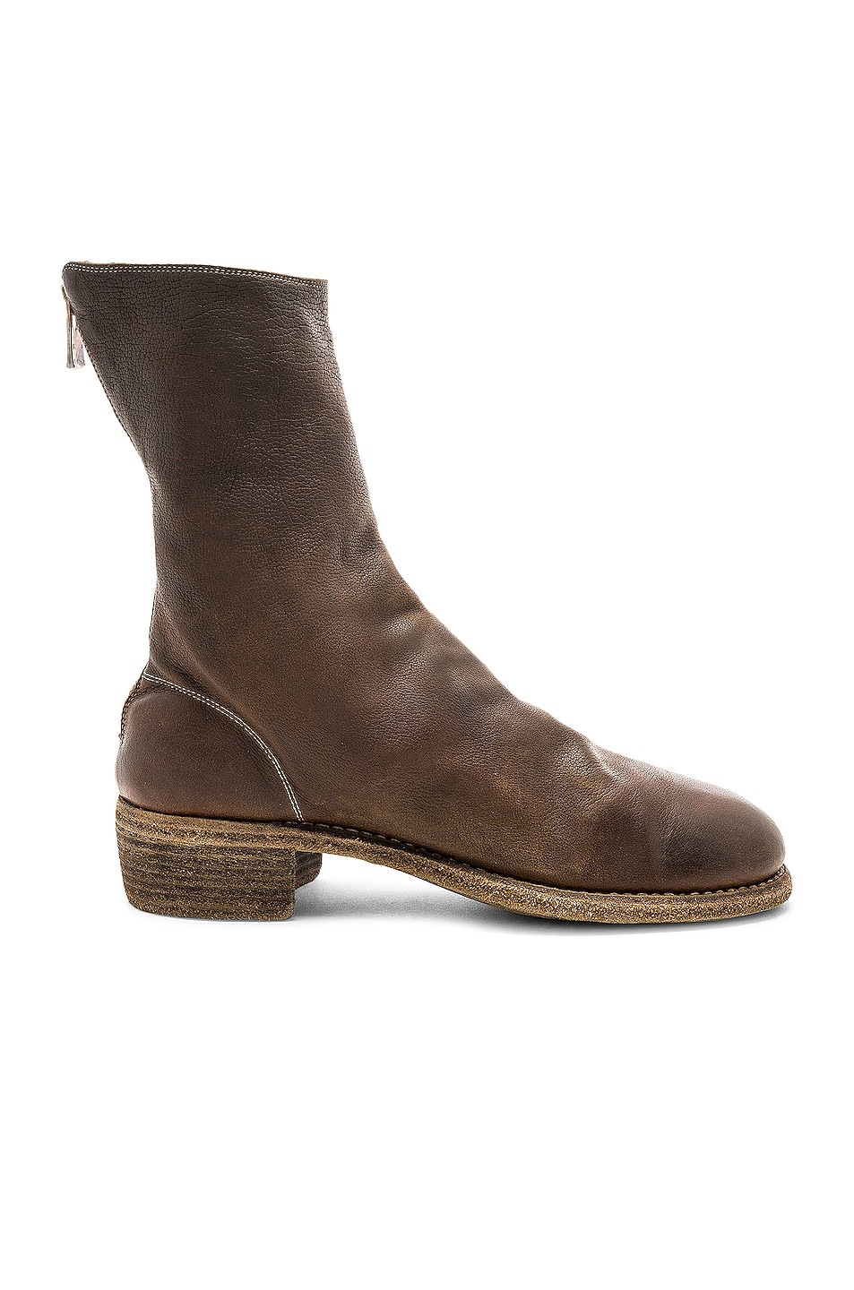 Image 1 of Guidi Baby Buffalo Full Grain Back Zip Boots in Brown