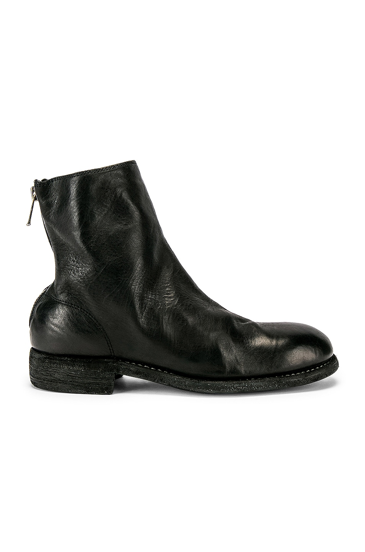 Image 1 of Guidi Back Zip Boot in Black