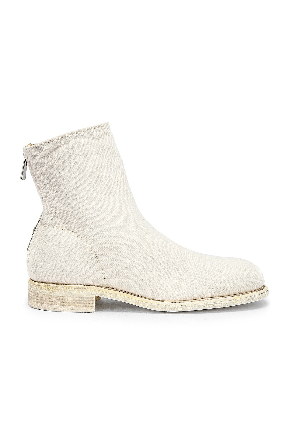 Image 1 of Guidi Back Zip Boot in White