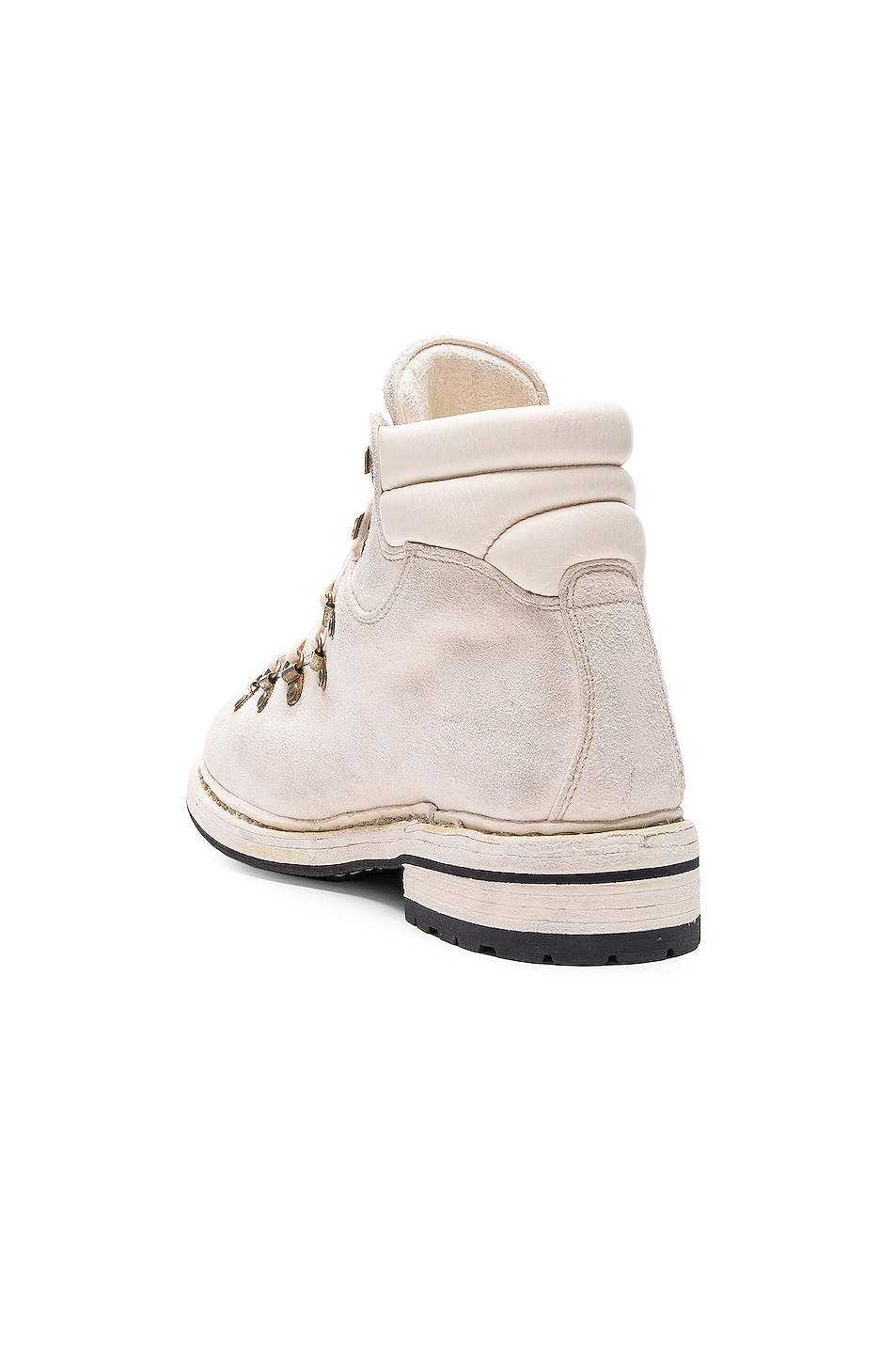 Image 3 of Guidi Lace Up Suede Combat Boots in White