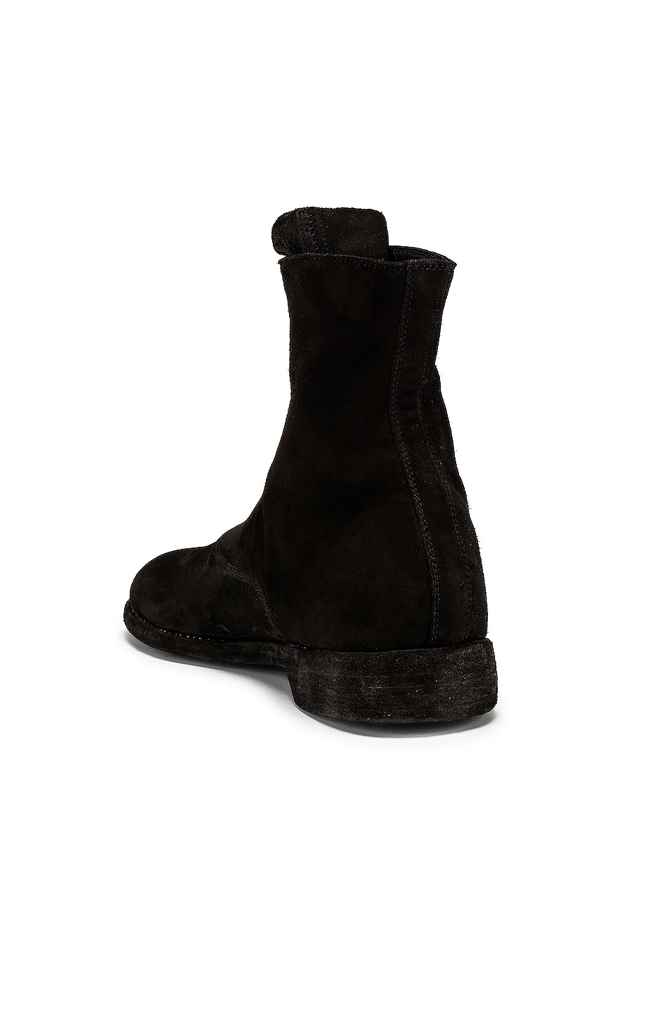 Image 3 of Guidi Stag Suede Zipper Boots in Black