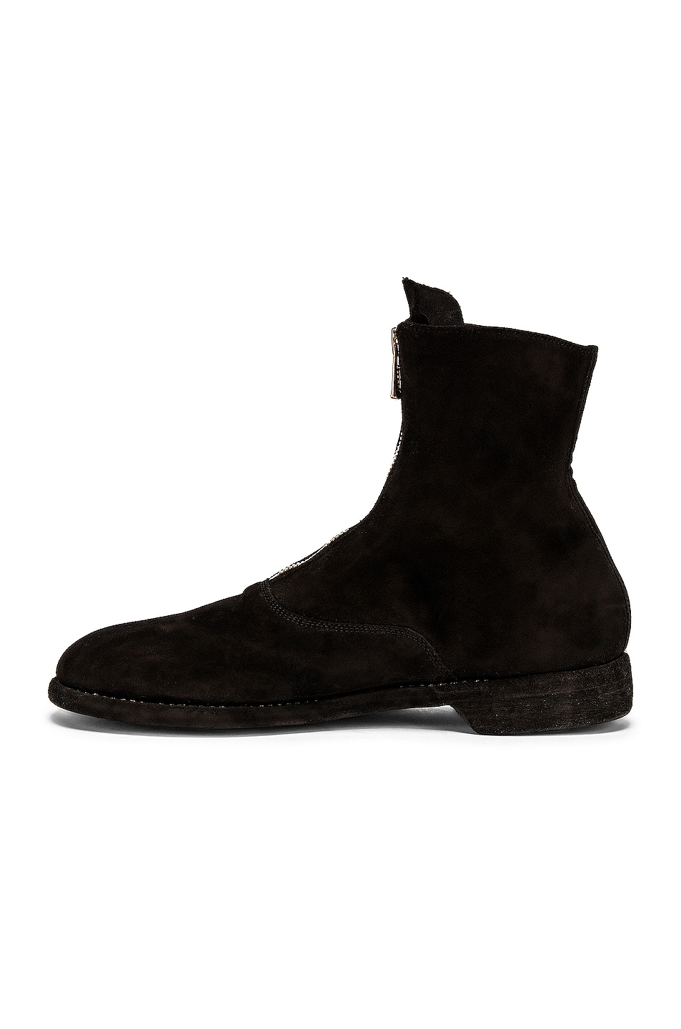 Image 5 of Guidi Stag Suede Zipper Boots in Black