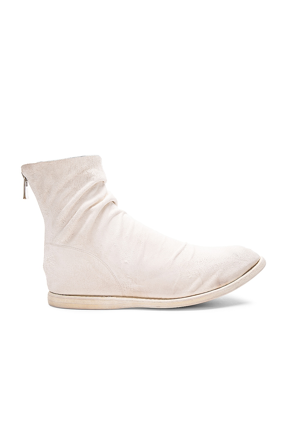Image 1 of Guidi Kangaroo Suede Boots in White