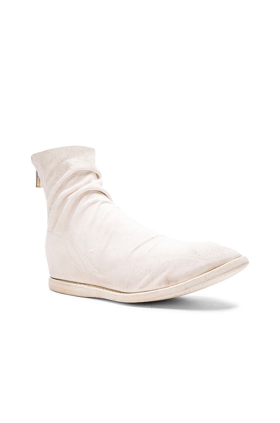 Image 2 of Guidi Kangaroo Suede Boots in White
