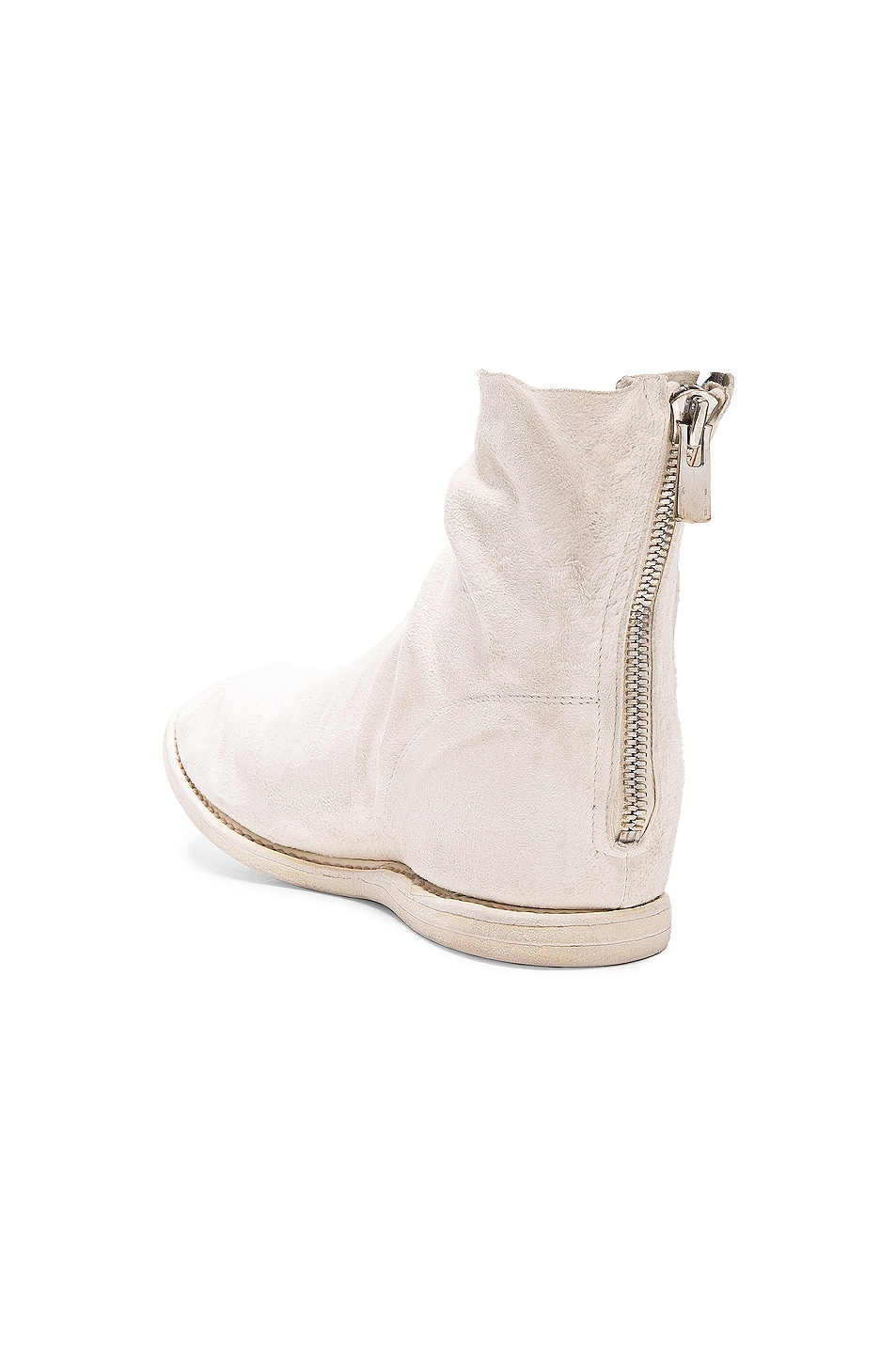 Image 3 of Guidi Kangaroo Suede Boots in White