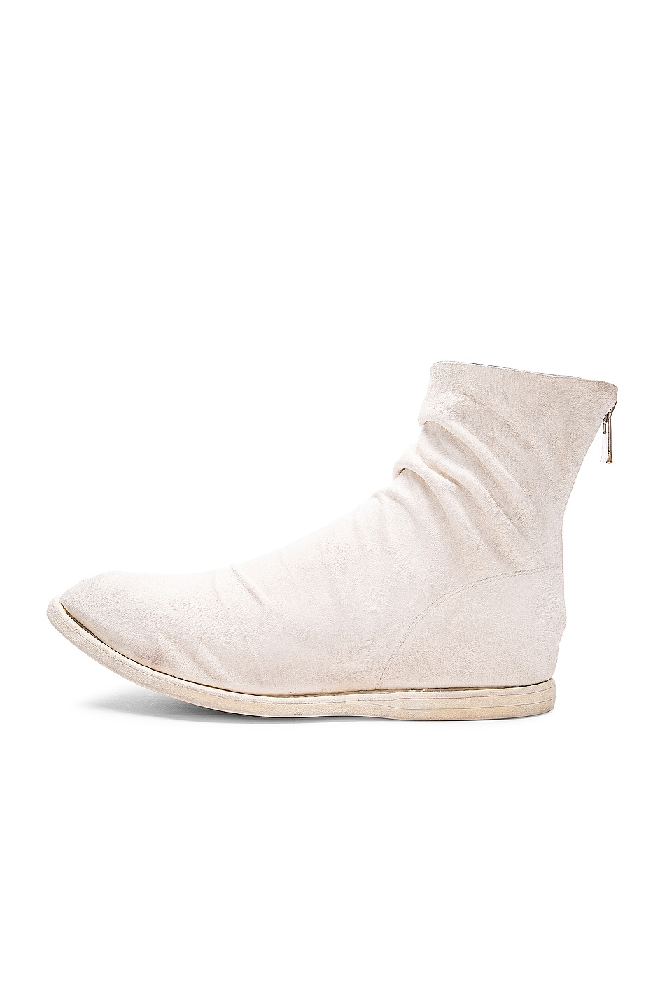 Image 5 of Guidi Kangaroo Suede Boots in White