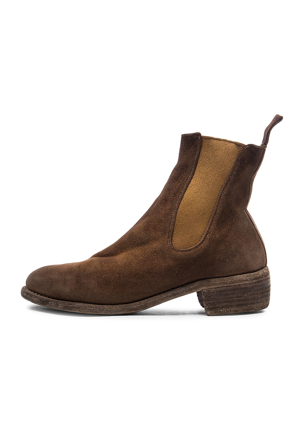 Image 5 of Guidi Stag Chelsea Boots in Brown
