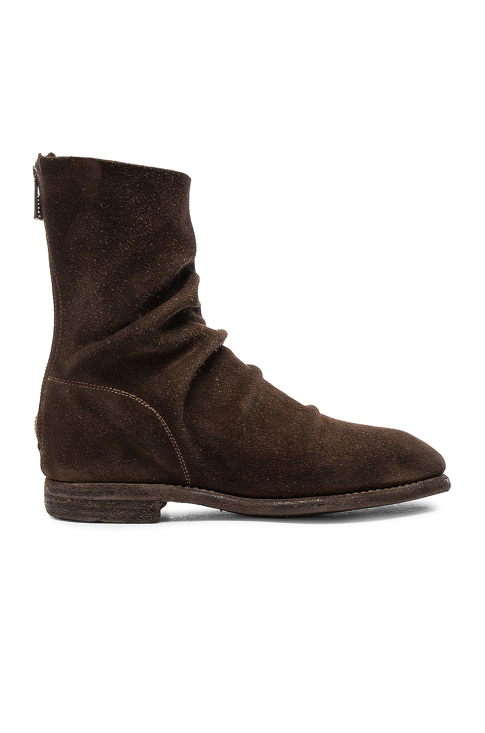 Image 1 of Guidi Calf Suede Boots in Brown