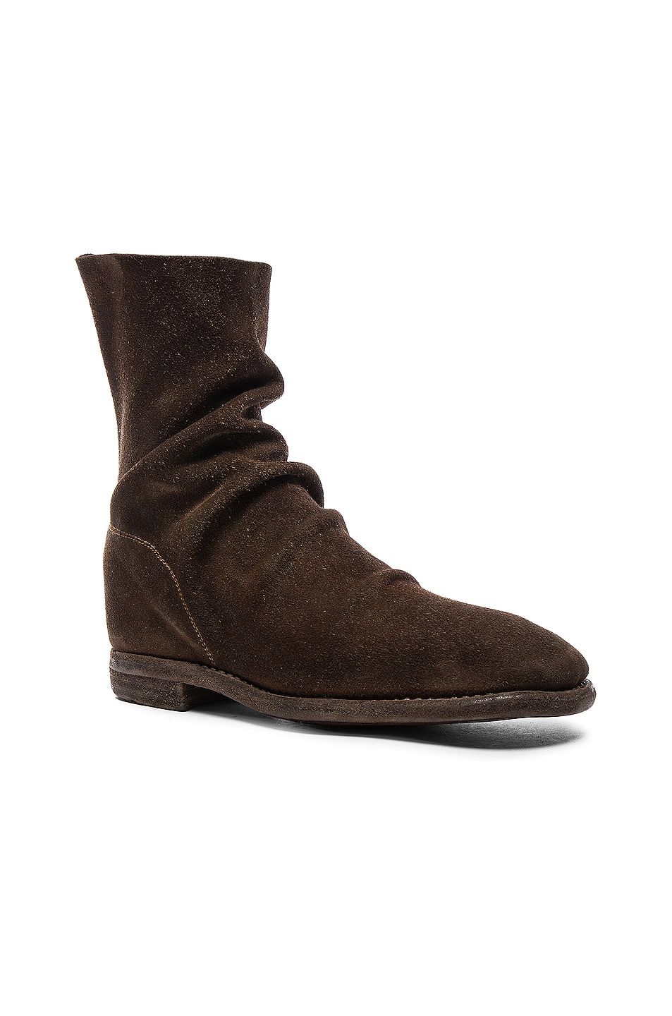 Image 2 of Guidi Calf Suede Boots in Brown