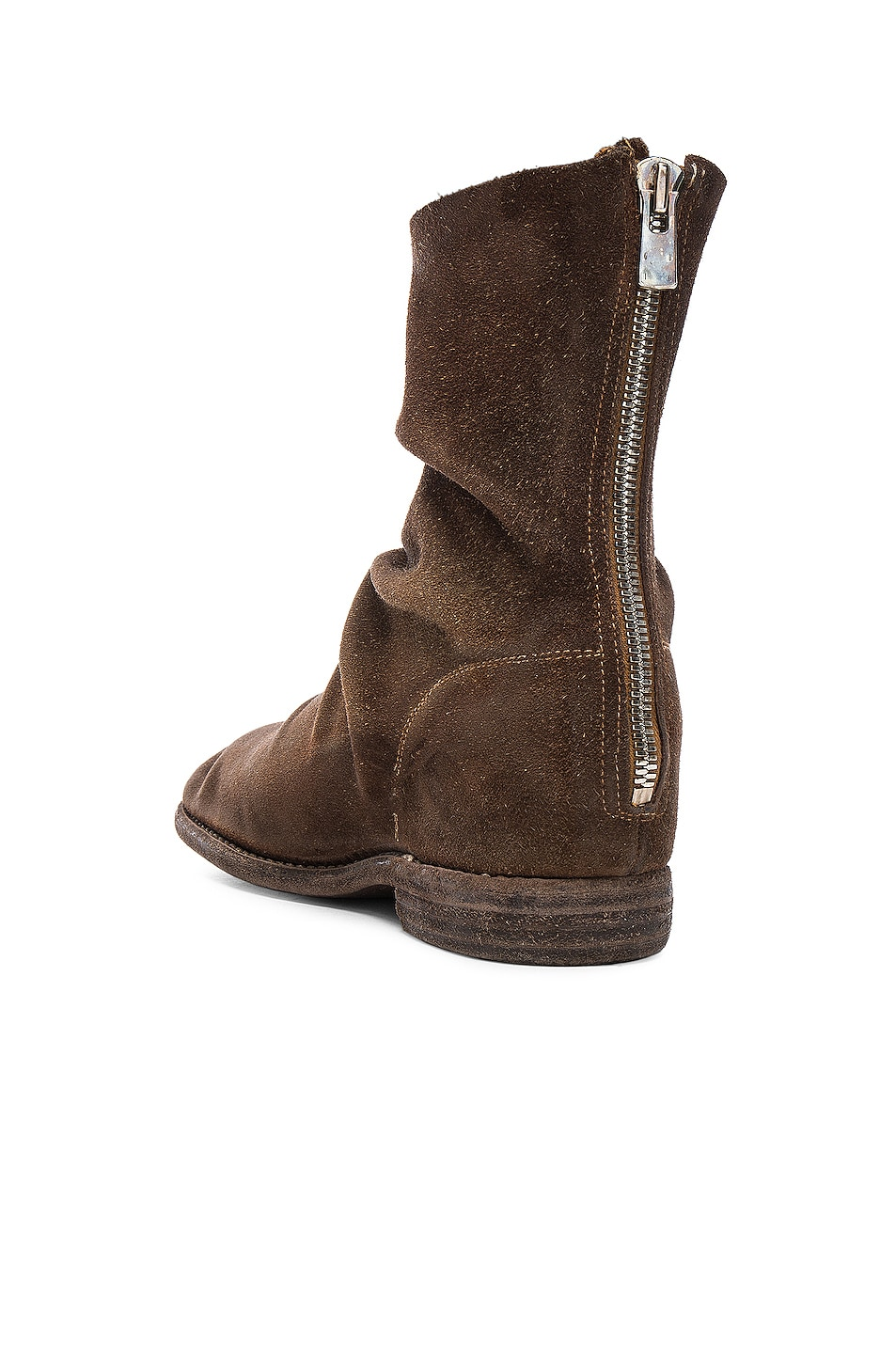 Image 3 of Guidi Calf Suede Boots in Brown