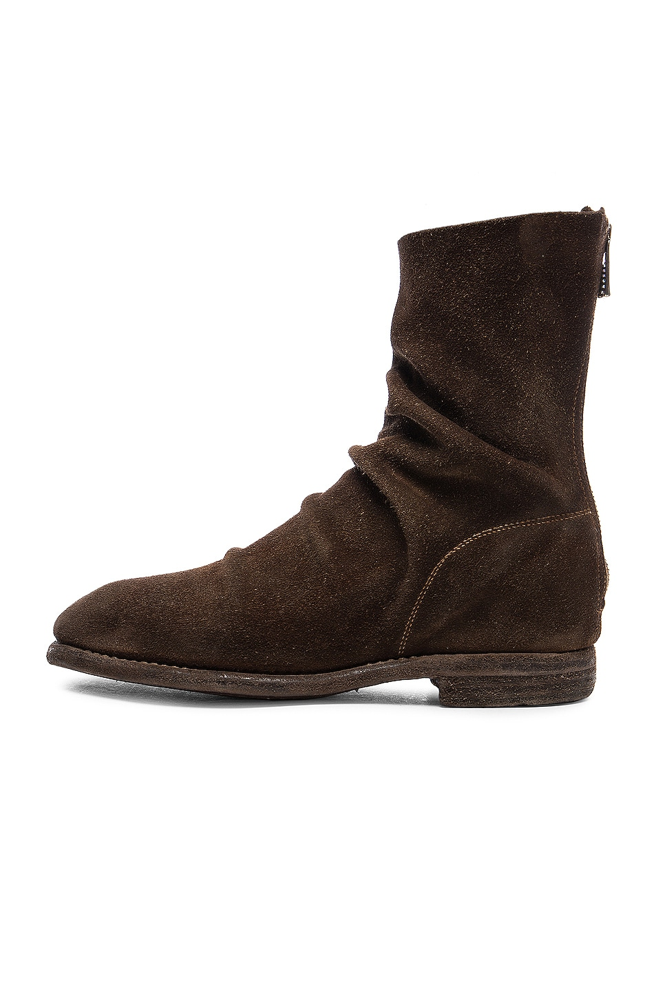 Image 5 of Guidi Calf Suede Boots in Brown