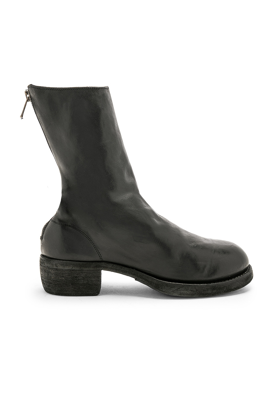 Image 1 of Guidi Leather Horse Zip Back Boots in Black