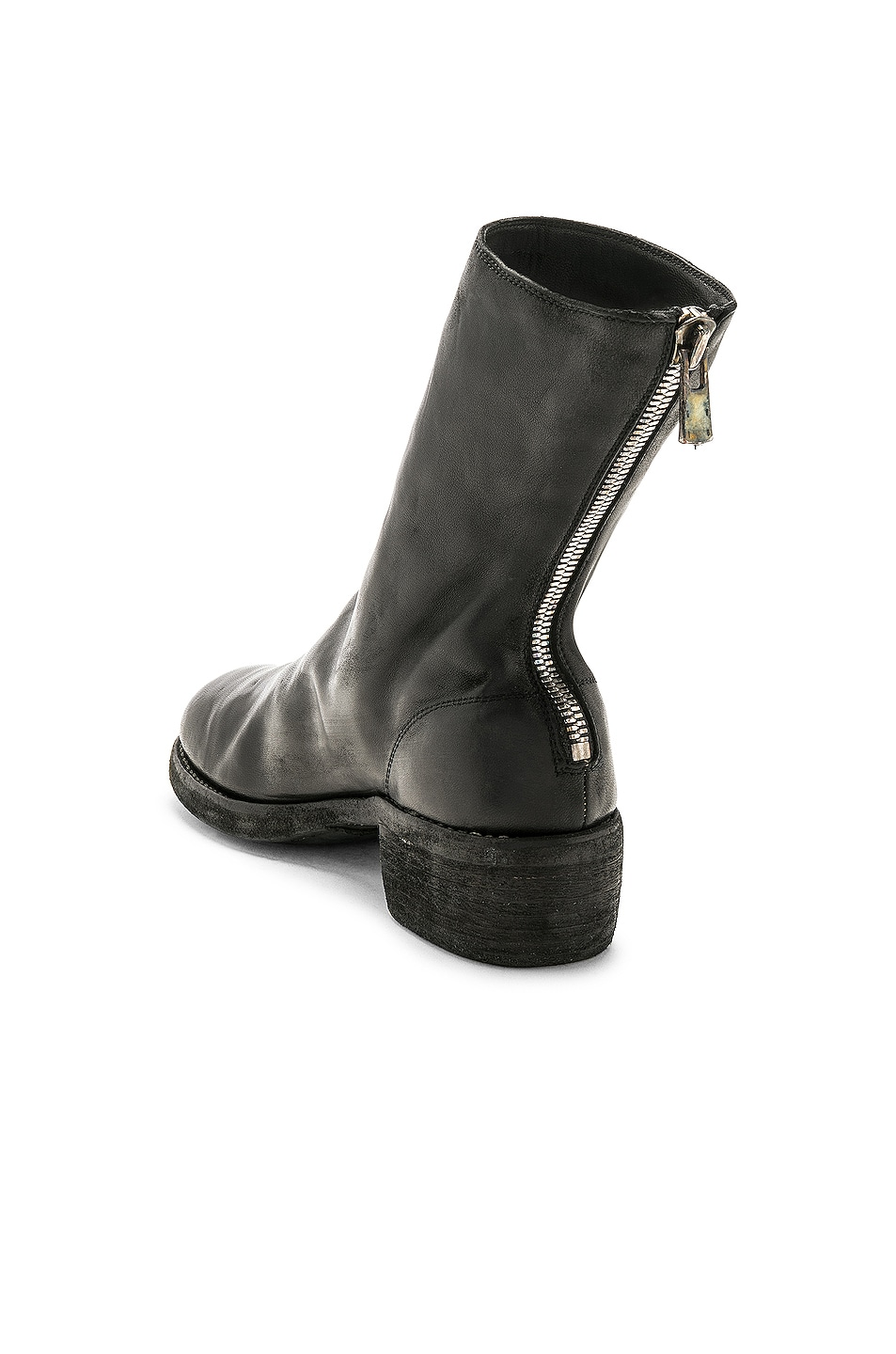 Image 3 of Guidi Leather Horse Zip Back Boots in Black