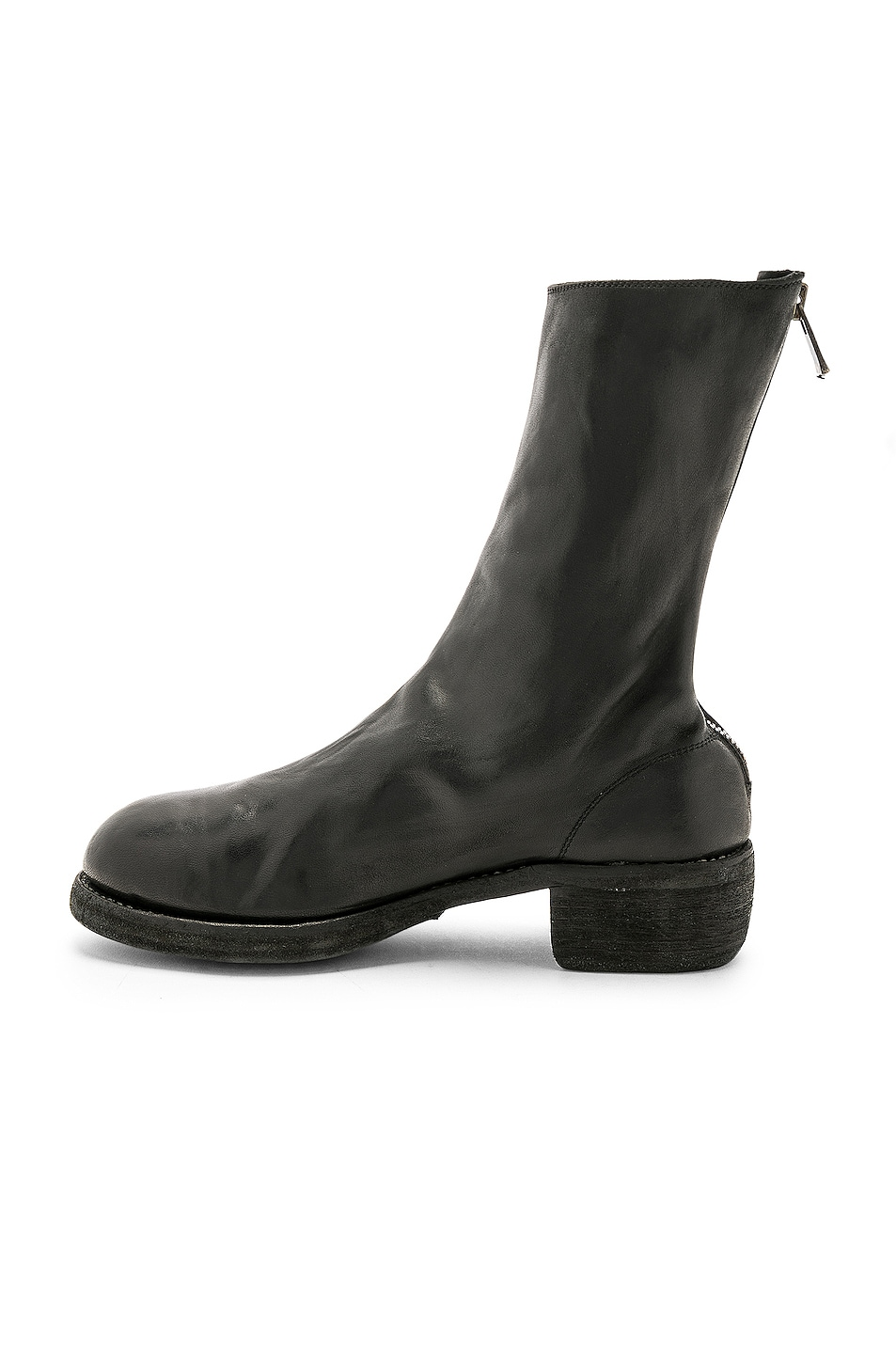 Image 5 of Guidi Leather Horse Zip Back Boots in Black