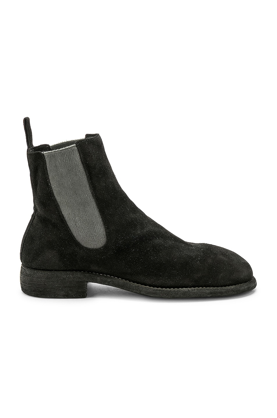 Image 1 of Guidi Suede Chelsea Boots in Black