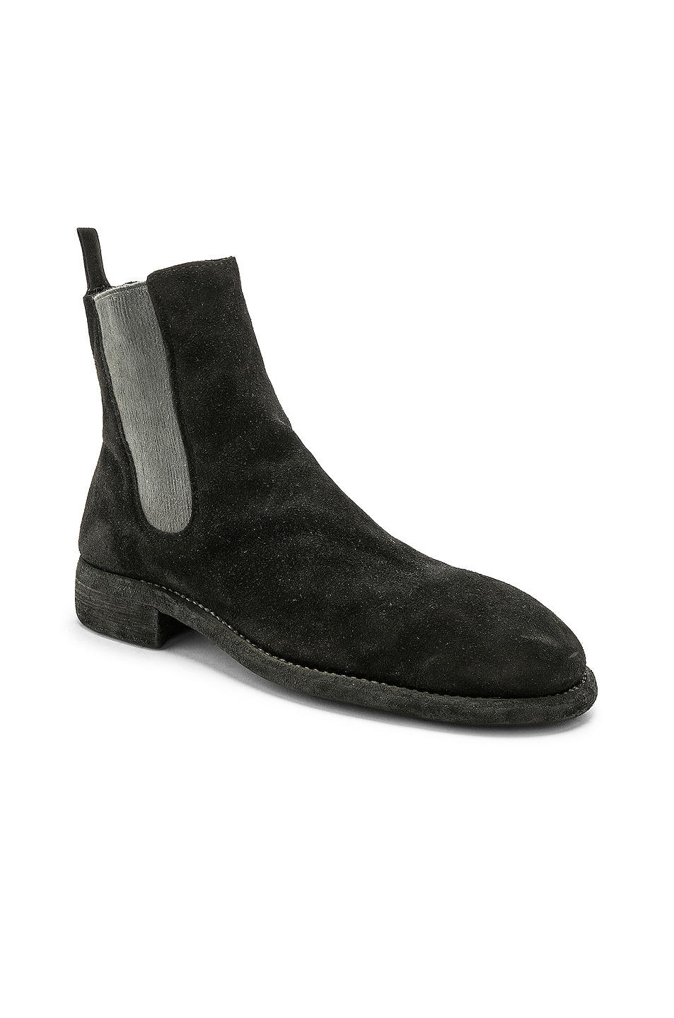Image 2 of Guidi Suede Chelsea Boots in Black