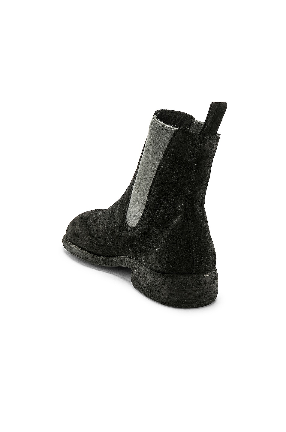 Image 3 of Guidi Suede Chelsea Boots in Black