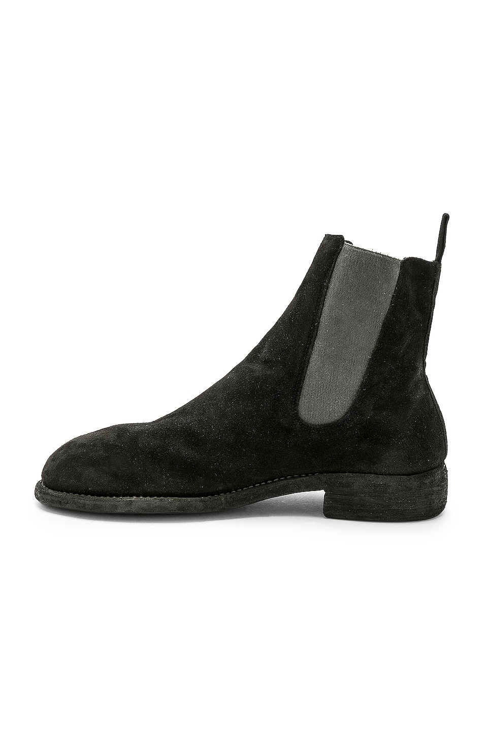 Image 5 of Guidi Suede Chelsea Boots in Black