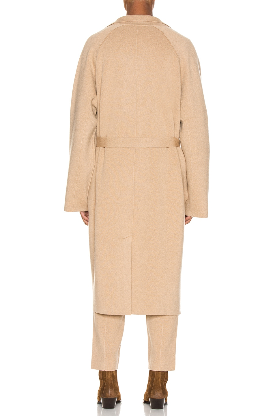 Image 4 of Haider Ackermann Knitted Coat in Invidia Camel