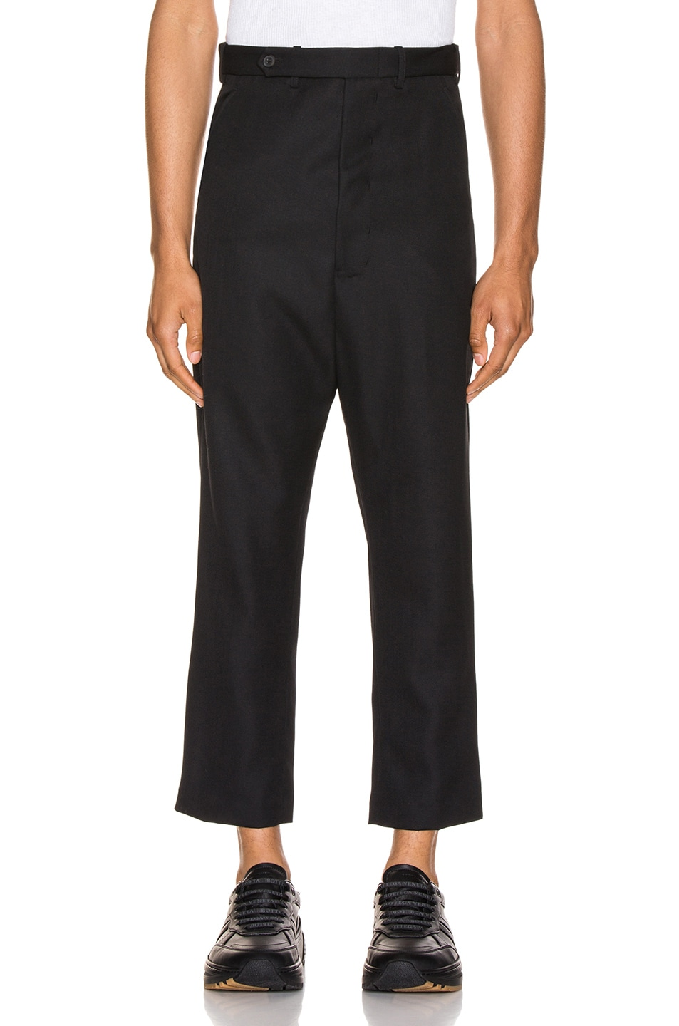 Image 1 of Haider Ackermann Cropped Low Crotch Trousers in Miles Black