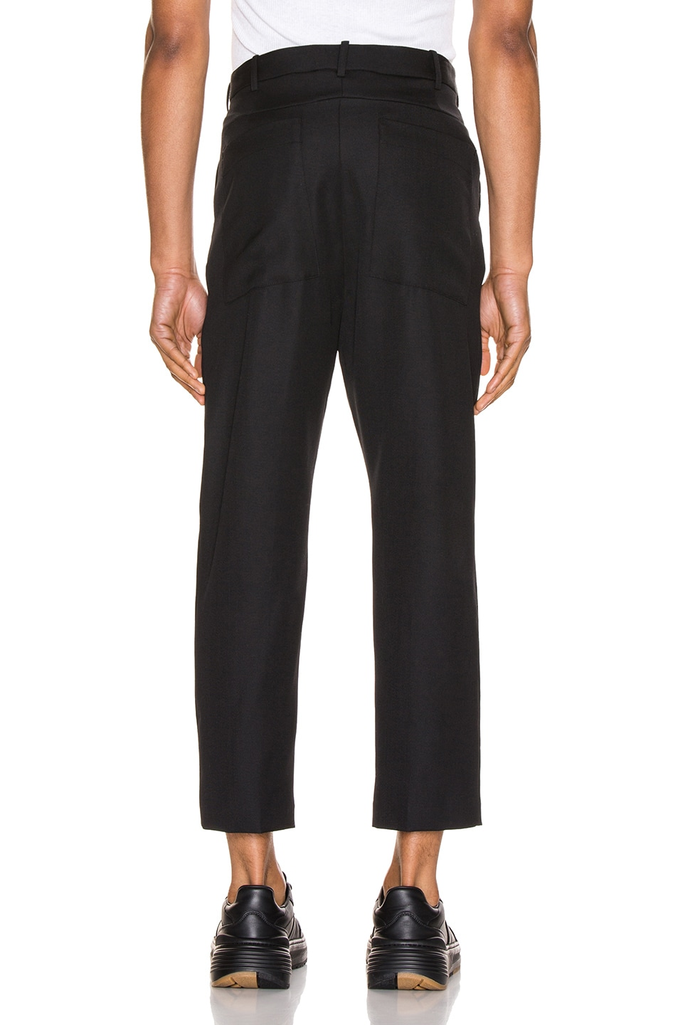 Image 3 of Haider Ackermann Cropped Low Crotch Trousers in Miles Black