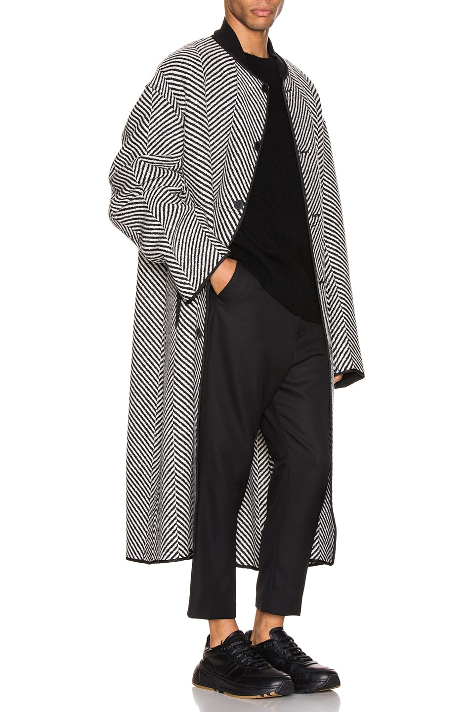 Image 4 of Haider Ackermann Cropped Low Crotch Trousers in Miles Black